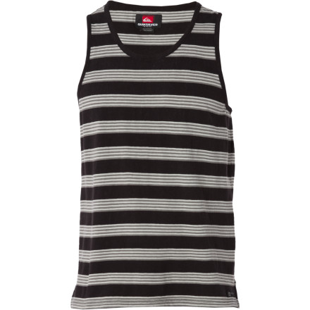 Surf Yo-ho-ho, it's the Quiksilver Heller Tank Top! This striped tank will make you hoot and holler and have a hella good time as you heave-ho your way to a bru-ha-ha of a ho-down, ya heard - $19.80