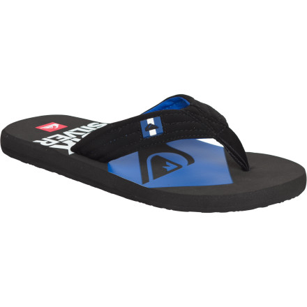 Surf The Quiksilver Foundation Cush 2 Sandal is serious about relaxing. Whether you're kicking back poolside or just passed out in a make-shift sand bed on the beach is up to you. Whichever happens first, the Foundation Cush 2's synthetic nubuck and polyester will keep you comfortable during transition between relaxation destinations. - $12.00