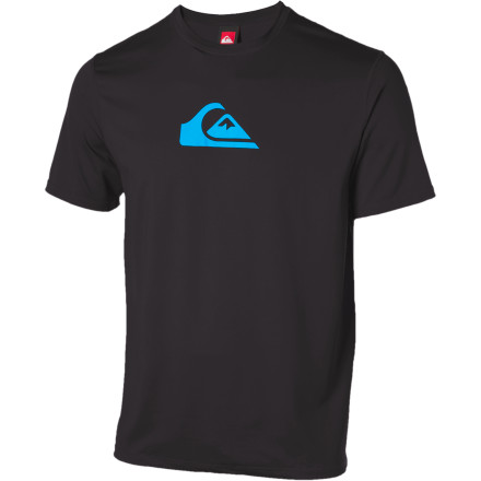Surf The Quiksilver Solid Streak Surf T-Shirt features the technical attributes of a rashguard, including a board short connection interface, flat-lock seams, and UPF 50+ stretch material, with the cut of a basic teeso you won't look like a tourist while getting your fish tacos. - $27.97