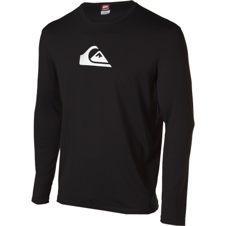 Surf Get pitted  so pitted with the loose-fitting Quiksilver Solid Streak Long-Sleeve Surf Shirt. - $44.95