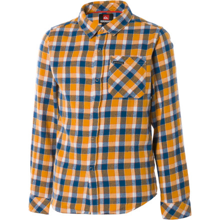 Surf A dude without a flannel to go with jeans is like a hermit crab without a shell. Sure, the crab does just fine on its own, but it looks so much more together with its shell. Your little hermit crab would probably prefer to stroll through life without a shirt, but he'll be complete with the Quiksilver Little Boys' Hooligan Flannel. - $18.90