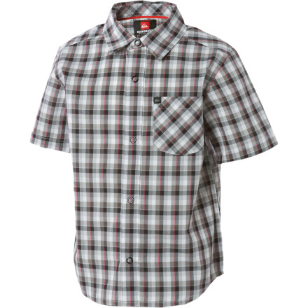 Surf If your little dude's wardrobe is short on button-ups, then turn to the Quiksilver Little Boys' Mini Shirt for help. The mini plaid print will go great with just about any jean, chino, or short he already has. - $19.00