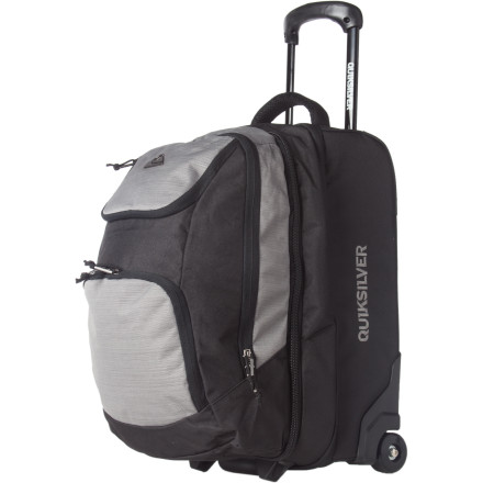 Entertainment Even a veteran traveler who typically hits the road, rails, or skies solo needs an accomplice; the Quiksilver Accomplice Rolling Carry-On Bag is the one that you can count on. The removable backpack, carry-on-approved capacity, and rolling features of the Accomplice make it the obvious choice for those who like to move quickly and avoid hold-ups. - $112.00