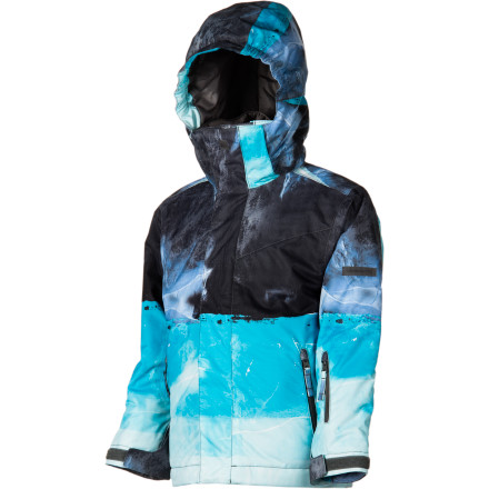Snowboard The Quiksilver Boys' Next Mission Jacket throws down with a DWR finish and balanced insulation to keep your kid dry and warm so he can focus on honing his skills in the park. Integrated insulation means he won't have to mess with layers while he obsessively laps features and adds to his bag of tricks. - $38.50