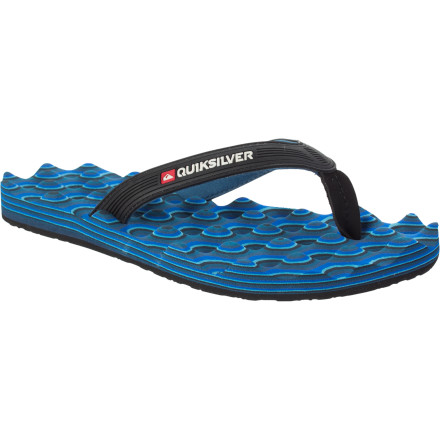 Surf Dorm shower to slippery pool deck, the Quiksilver Traction Sandal is grippy, comfy, and water-friendly. - $12.00