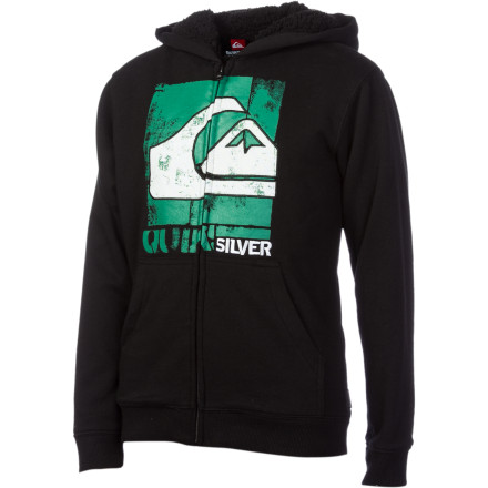 Surf Quiksilver Solo Brother Sherpa-Lined Hoodie - Boys' - $29.75