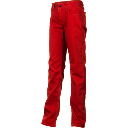 Surf The Quiksilver Boys' Distortion Slim Denim Pants gives your youngin' a slick look that is great for school and still relaxed enough for weekend skatepark sessions and recess shenanigans. - $44.00