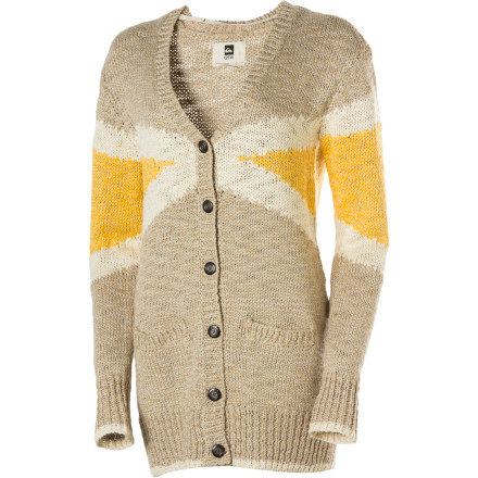 Surf Instead of shivering, slip on the Quiksilver Women's Sail Cardigan when your friends take the boat out for one more hooray before the bay freezes over. - $70.80