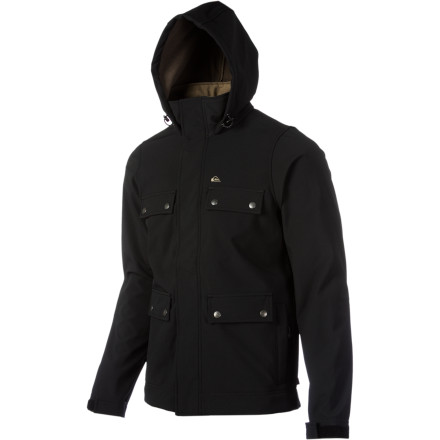 Surf If your animal spirit is a wolf, you probably know a thing or two about maintaining intimidating eye-contact, baring your teeth, and pouncing on things powerfully and effectively. The Quiksilver Lobos Softshell Jacket is like that but in jacket form. - $71.50