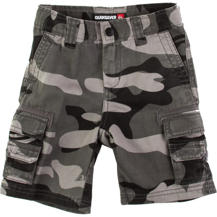 Hunting The lightweight Quiksilver Little Boys' Escargot Short is just the thing to keep Junior cool during intense play, exploration, and gathering/scavenger hunt expeditions. The Escargot is loaded with pockets that are perfect for carrying sea shells, frogs, spiders, and, of course, snails. - $25.20