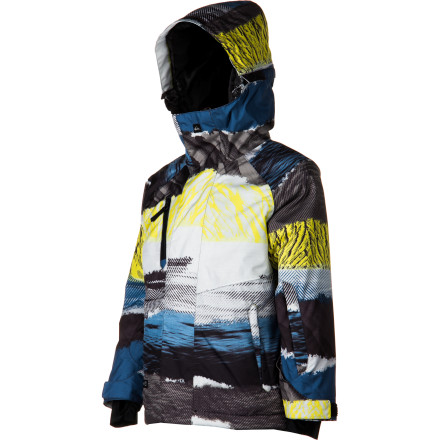 Snowboard The Quiksilver Boys' Travis Rice Hydro Jacket serves up all-mountain performance that will keep your up-and-comer feeling good from the park to the groomers. Plus, the bold color blocking will keep him looking good when he's posing for family photos at the lodge. - $87.75