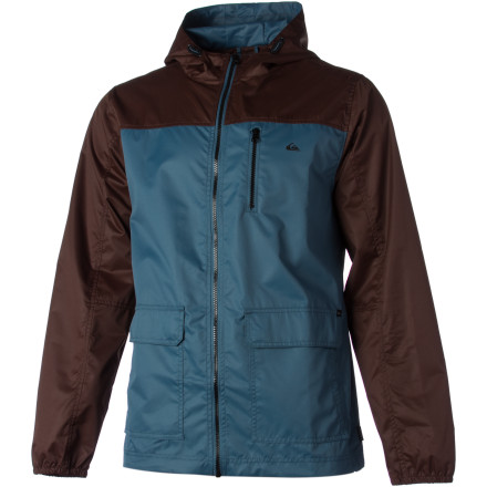 Surf Zip up the Quiksilver Harbor Jacket and protect yourself from the chilly evening breeze rolling in off the ocean. - $41.70