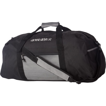 Camp and Hike The Quiksilver Medium Duffel Bag: For all your duffling needs. Bomber fabric and an adjustable shoulder strap help you lug all your junk around, whether it's surf gear or a few kilos of black-market imported gummy bears. - $40.00