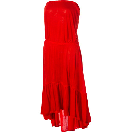 Entertainment The Quiksilver Women's Poppy Fields Strapless Dress loves outdoor dining, especially when it has view of the sun setting into the ocean. - $37.00