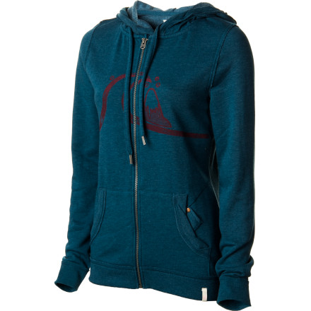Surf Quiksilver Sleever Hand Drawn OG Full-Zip Hoodie - Women's - $27.23
