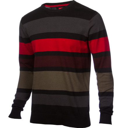 Surf You're throwing out that proverbial line and reeling 'em in every time you sport the Quiksilver Men's Casting Sweater. Eye-catching stripes bait the hook, making you stand out across a crowded bar. - $44.00
