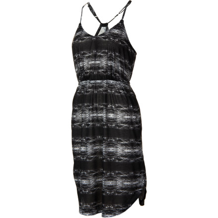 Entertainment Thank goodness for the Quiksilver Women's Black Wave Dress's slouchy pockets. It's hard enough for you to keep the excitement out of your voice when you speak to your crush and, now that you have a place to stash your fidgety hands, you feel way more composed. - $44.40