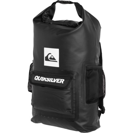 Skateboard If you've failed to commit to a dry bag for your surf, stand-up, kayak, or regular beach ventures simply because you couldn't figure out how to comfortably carry one, then feast your eyes on the Quiksilver Sea Stash Backpack. That's right, now you can keep your clothes dry while you surf and your wet surf gear contained until you get home and easily haul it via the padded shoulder straps. - $55.00