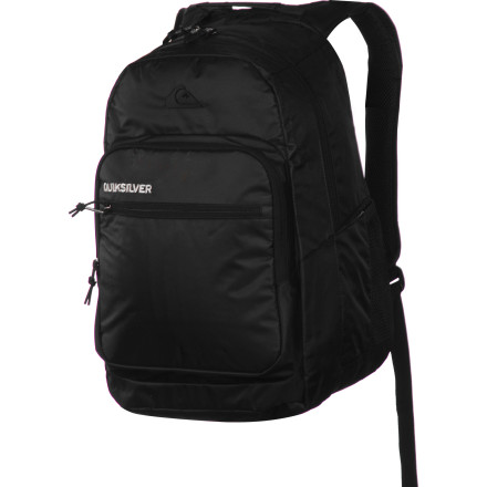 Camp and Hike You're making it look effortless when you're toting your school necessities in the Quiksilver Schoolie Laptop Backpack. This sleek pack not only keeps your computer safe, it features a built-in insulated pocket so you can carry your midday refreshments as well. - $50.00