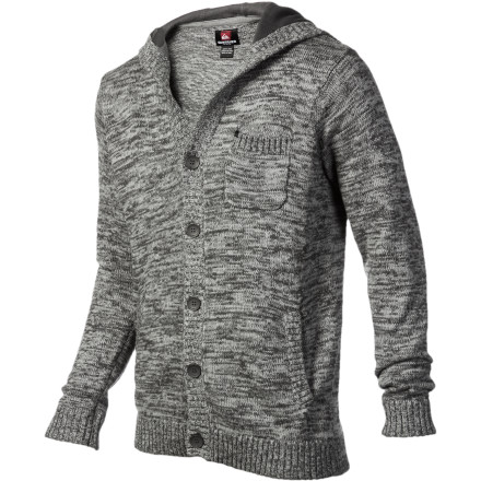 Surf You're going to finally catch the eye of that hot librarian when you walk in wearing the Quiksilver Stranger Men's Hooded Sweater. The soft cotton and acrylic blend fabric will keep you feeling cool and comfortable when you approach her, and the chest pocket is the perfect size to hold a piece of paper with her number on it. - $72.25