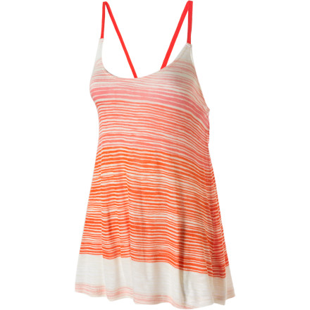 Surf Warning: when sporting the Quiksilver Women's Heat Wave tank Top, comfort and warm temps may ensue. Don't say we didn't warn you. - $17.60