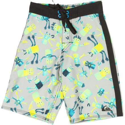 Surf Whether your little man mashes wet sand into a bucket or his face into the sandy bottom of the shore, he'll be happier if he sports the stretchy, comfy Quiksilver Little Boys' Masher Board Short. - $25.20