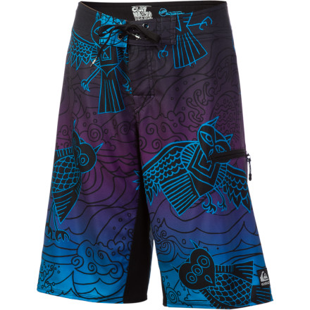 Surf The word 'Pueo' means 'owl,' regarded by Hawaiians as the protector of the Hawaiian islands. The Quiksilver Cypher Pueo Board Short is a protector in its own way with proceeds from each sale going to the Scott Center for Autism and Surfer's Healing, two organizations involved in the treatment and awareness of autism. - $24.75