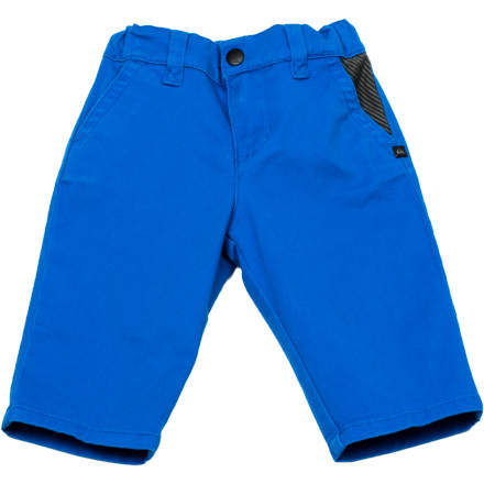 Surf It's never too early to get him used to looking good. The Quiksilver Box Wire Infant Boys' Pant has a slim straight fit that will have him looking handsome. - $21.60