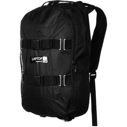 Camp and Hike With skate straps, tons of gadget pockets, and a large opening to access the two main compartments, the Quiksilver Hammond Backpack lets you tote everything you'd need to show off a new vid edit or your home-screened tees. - $80.00