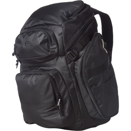 Surf Made for surf trips but applicable for everyday life, the Quiksilver Alpha Backpack includes a removable dry bag and a large main compartment for a change of clothes. Rounded out with plenty of storage, sturdy material, and a streamlined look, the Alpha is definitely a pack ahead of the pack. - $108.00
