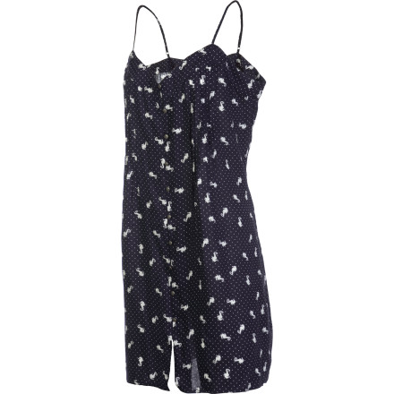 Entertainment Wear the Swimming Seahorse Cami Dress when you want a laid-back look that is as stylish as it is playful. This dress is great for lunch-break walks on warm autumn afternoons and evenings out when you want to look hot but not too serious. - $27.25