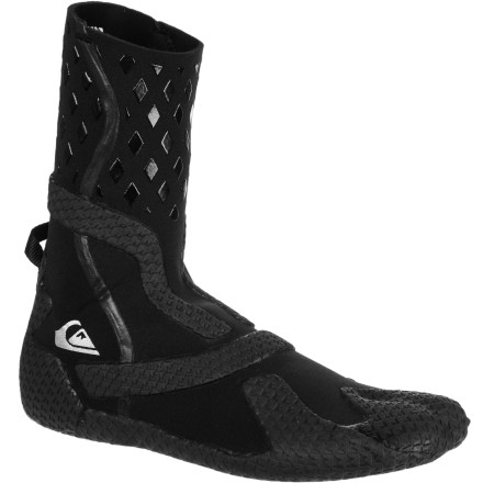 Surf You surf with your feet, so make sure you can still feel them when the water gets cold with the Quiksilver Ignite 3mm Quik Grip Men's Boot. Fiberlite neoprene is super-stretchy so you don't feel like you're wearing clunky shoes, and GBS seams reduce flushing so your toes stay warm. - $44.96