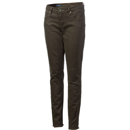 Surf If you're tired of your pant's bottom hem getting stuck in your bike chain, slip into the Quiksilver Women's Sunday's Skinny Denim Pant. Not only is this skinny jean exceptionally stylish, it looks great with both flats or sexy high-top boots. - $29.40