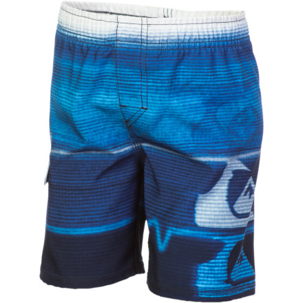 Surf The Quiksilver Infant Boys' Bravo Volley Board Shorts are great for your baby man's first season of sand throwing, and toe dipping. He'll feel great while he's getting his first taste of beach life. - $18.90