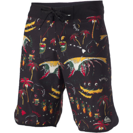 Surf If you ever find yourself stranded on a deserted island, you'll wish you had the Quiksilver Wilderness Board Shorts. Not because they'll help you get rescued any faster, they're just a lot more comfortable than wearing an animal-skin loincloth. - $37.20