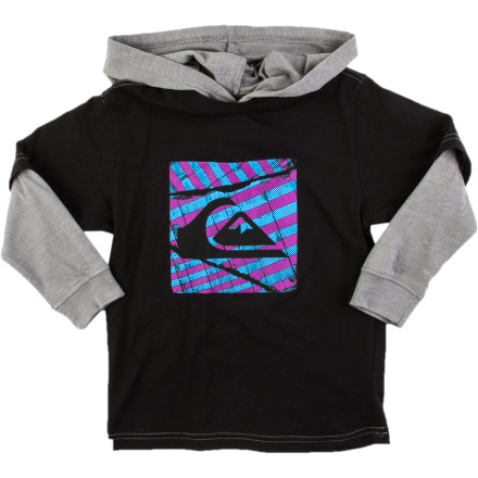 Surf Quiksilver Bailin Hooded T-Shirt - Long-Sleeve - Little Boys' - $14.25