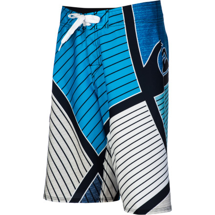 Surf Score big with the Quiksilver Dunk Boys' Board Short. The four-way stretch fabric allows for unrestricted movement, whether he's surfing or simply swimming, and it dries quickly so he's not shivering on the shore. - $33.75