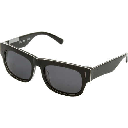 Entertainment Look to the RAEN Optics Polarized Lenox Sunglasses if youre looking for a pair of shades that shields your eyes from the suns glare and looks damn fine on you. This limited edition Captain Fin signature model features fin-shaped arms, stylish metal detailing, and an electric green and vibrant black sandwich colorway. - $116.95