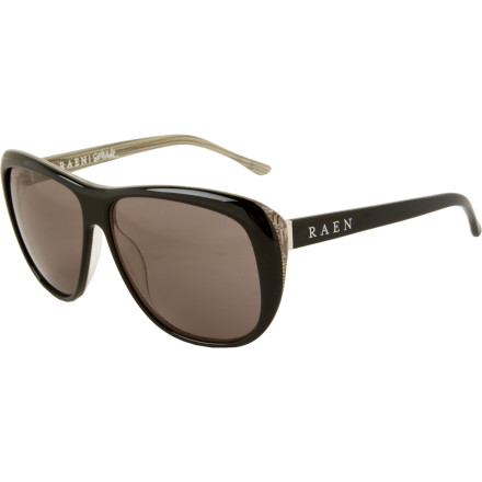Entertainment Youre one foxy lady, so its no surprise that you sport the RAEN Womens Optics Schade Sunglasses when you chill poolside or cruise the boardwalk. Oversized, teardrop shaped frames stylishly provide complete eye coverage from the suns vicious rays, and help accentuate your beauty. - $94.95