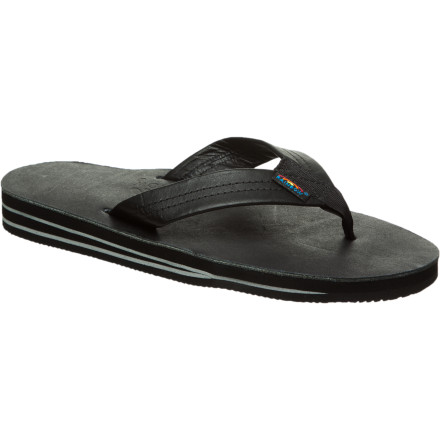 Surf Good luck wearing anything besides your Rainbow Premier Leather 302 Sandal. These soft, comfy sandals fit in at the beach, the caf, and the neighborhood BBQ. - $52.95