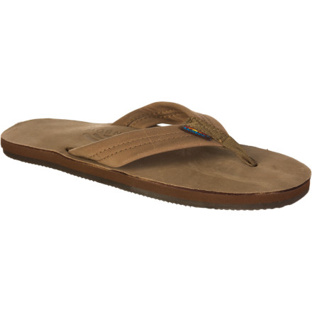 Surf Wear the Rainbow Women's Premier Leather 301 Sandals for a neighborhood walk, dinner with friends, or the concert at the park. These flip-flops feel good and have a classic look that goes with just about anything in your summer wardrobe. - $48.95