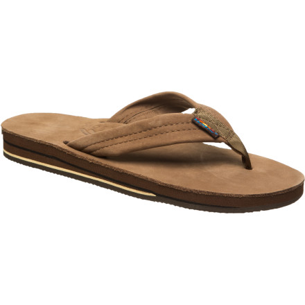 Surf Wear the Rainbow Women's Premier Leather 302 Sandals when you want the soft feel and great look of fine leather blended with the summery feel of flip-flops. These sandals are perfect for beach walks that start in the sand and end with margaritas and lunch at a five-star, seaside restaurant. - $52.95