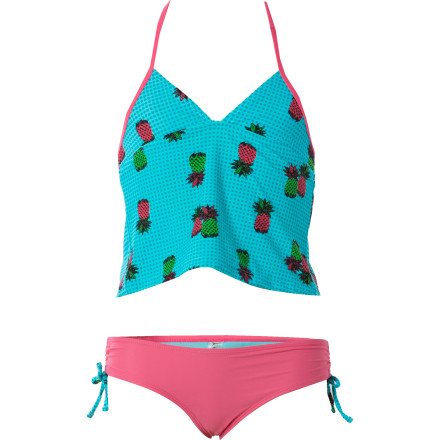 Fitness If you want to make your mom's heart melt, just put the Raisins Little Girls' Pineapple Princess Pacific Palisades Swim Set on your little angel. Its stretchy, quick-drying fabric will feel soft and comfortable against her skin, while its sweet design channels her adorableness. - $14.38