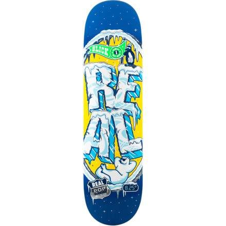Skateboard Worry about hang-ups no more with the Real Popslickles Slick Bottom Skate Deck. Popslickles makes the bottom of the deck extra-slick for smooth slides and buttery blunts. - $44.96