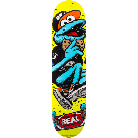 Skateboard Ishod Wair is a beast on a skateboard. He scarfs down ledges and rails like they were cookies and is always hungry for more, so his Real Wair Monster Skate Deck is made with R1 construction to handle the beating he puts on it on a daily basis. - $49.95
