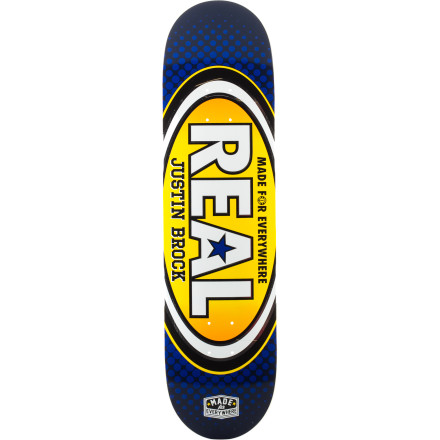 Skateboard From bowls to handrails, skate and destroy everything with the Real Made For Everywhere Skate Deck. R1 construction makes for a stiff, poppy deck that's at home at the park or in the streets. - $44.96