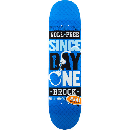 Skateboard Get loose with the Real Since Day One Skate Deck. It features Reazy-C mellow concave for a flatter board that doesn't lock your feet in as much so it's more forgiving when you're landing tricks. - $39.96