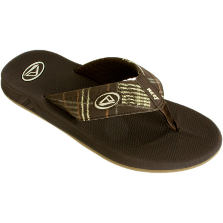 Surf Just because you wear the Reef Men's Phantom Sandals doesn't mean you also have to wear an uncomfortable white mask and pine freakishly over a girl. But the Phantom flip-flops do have water-friendly nubuck uppers and air mesh linings, so you might be tempted to stroll down to the surf. And while you're there, a shark might hurl itself out of the water and snark off half your face. Then you might want to wear a mask. At least if that happens, the Phantoms Sandals' EVA footbeds and arch supports will keep the bottoms of your feet comfortable. - $27.95