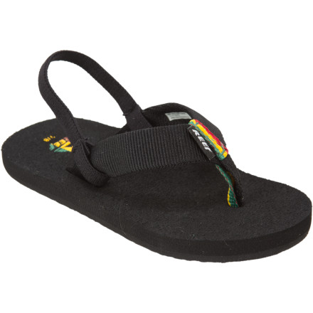 Surf His little feet will be comfy with the Reef Toddler Todos Sandals. Keep him from crying about his feet with the classic woven straps, optional back strap and soft EVA footbeds. He'll find plenty of reasons to cry once he sees the size of the bubbles you are making in the pool. - $16.16