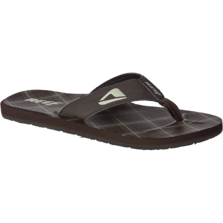 "Surf Invest in the Reef Men's HT Prints Sandal if you want to get into the bar. The ""No Shoes , No Shirt, No Service"" sign is there for a reason. Plus, your feet will be more than happy when they slip themselves into a pair of these comfy flip-flops with water-friendly synthetic nubuck straps with anatomical arch support. - $15.37"